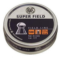 Пули для пневматики  RWS Syper field 4.5mm 0.54g (500pcs)