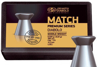 Пули JSB Match Premium Middle 4,50mm 0.520g ( 200pcs), фото 2