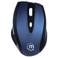Клавиатуры и мышки Manhattan  Manhattan Contour Wireless Optical Mouse, Black-blue