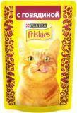 Friskies Фрискис влажный корм для кошек С говядиной в подливе, 85гр