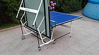 Всепогодный теннисный стол складной на колесах, фото 1