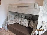 Кровать 2х ярусная с дополнением на 4 спальных места, фото 3