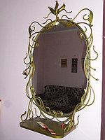 Зеркало кованое