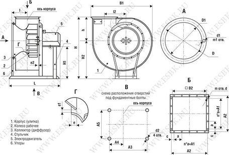 Вентиляторы промышленные  ВР 80-75-3,15 двиг 0,37/1500об/мин, фото 2