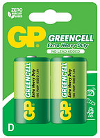 Батарейки R20 D 2 шт GP Batteries Greencell