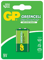 Батарейки 6F22 9V 1 шт GP Batteries Greencell