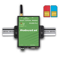 "Модем Robustel M1000 GPRS Pro V2  (2 SIM, MODBUS, COM-порт, RTC, Wathcdog, ""прозрачный GPRS"", RS232/RS485, TCP"