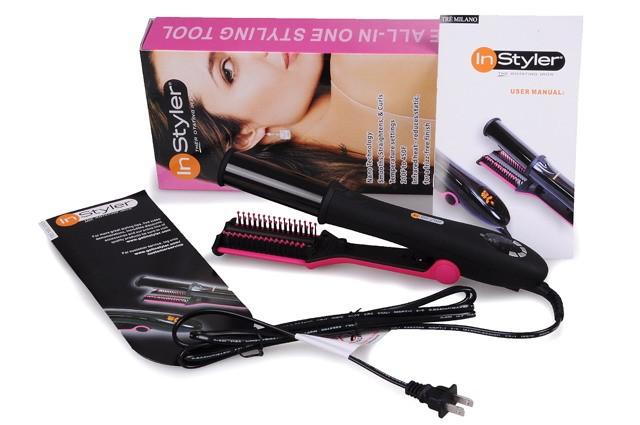 Прибор для укладки волос Instyler (розовый)