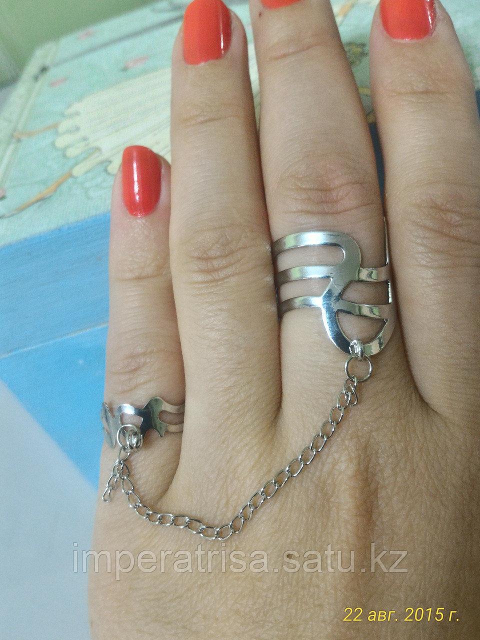 """Кольцо на два пальца """"Асемай"""""""