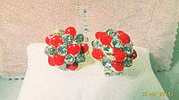 """Серьги """"Красные цветы"""", фото 1"""