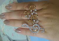 """Кольцо на два пальца """"Мелодия"""""""