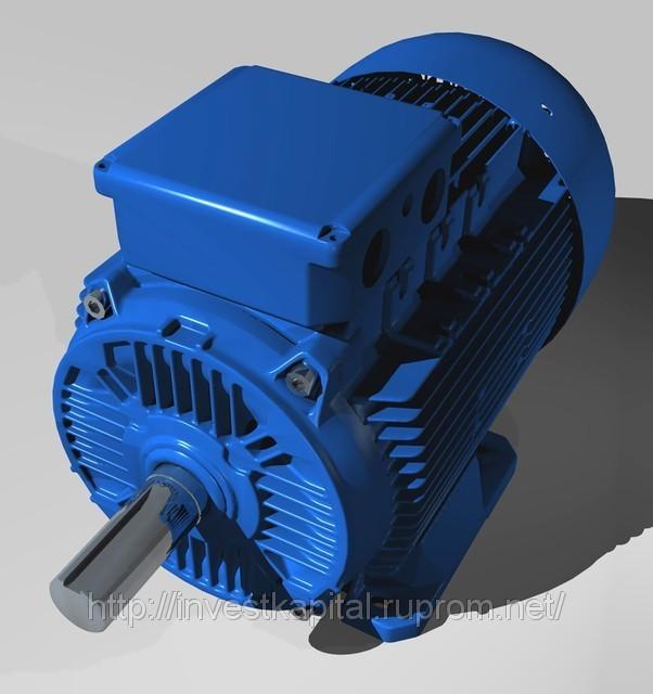 Электродвигатель 1,5 кВт 3000 об.мин, фланец