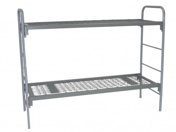 Кровать металлическая двухярусная для строителей и общежитий
