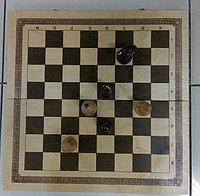 Шахматы точеные офисные с доской 560х280х70мм, фото 1
