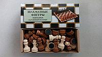Фигуры шахматные обиходные лакированные диаметр 24мм, высота 44-70мм , фото 1