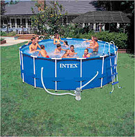 Каркасный сборный бассейн Intex Metal Frame Pool. 457х122см., фото 1