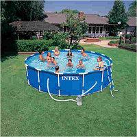 Каркасный сборный бассейн Intex Metal Frame Pool. 457х107 см., фото 1