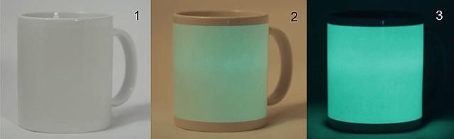Кружки для сублимации, флуоресцентная (светится в темноте)