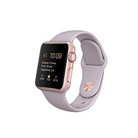 Apple Watch 42mm Rose Gold Aluminum Case with Lavender Sport Band
