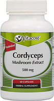 Кордицепс Vitacost Cordyceps Mushroom Extract - Standardized 500 mg (60 капсул)