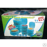 Контейнеры для хранения продуктов, 11 контейнеров The lid Always Conn. Алматы, фото 1