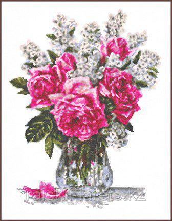"""Набор для вышивки крестом """"Розовый букет"""" 01.010"""