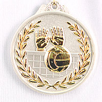 Медаль рельефная ВОЛЕЙБОЛ (серебро), фото 1