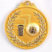 Медаль рельефная БАСКЕТБОЛ (золото), фото 1