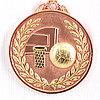Медаль рельефная БАСКЕТБОЛ (бронза)
