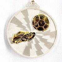 Медаль рельефная ФУТБОЛ (серебро), фото 1