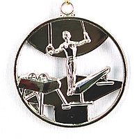 Медаль СПОРТИВНАЯ ГИМНАСТИКА (серебро), фото 1