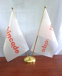 Флажок настольный  на заказ с логотипом