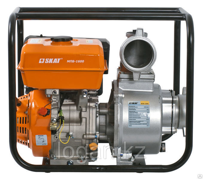 Мотопомпа бензиновая для перекачки чистой воды SKAT МПБ-1600