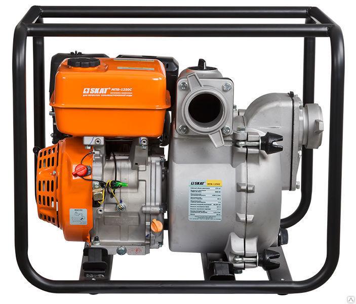 Мотопомпа бензиновая супергрязевая (шламовая) МПБ-1250С