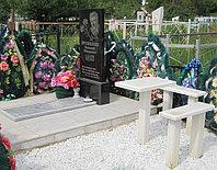 Мраморные скамья и стоик  для благоустройства  могил