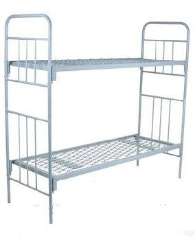 Кровать двухъярусная металлическая армейская