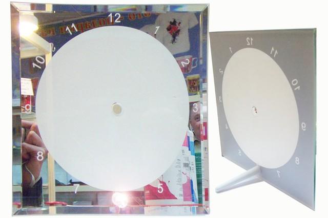 Стеклянные часы для сублимации (BL-14),размер: 200х200х5мм
