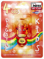 USB флэш-накопитель Mirex kids DRAGON RED  4GB (ecopack)