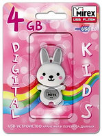 USB флэш-накопитель Mirex RABBIT GREY 4GB (ecopack)