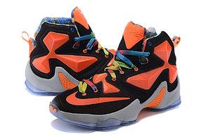 Nike Lebron 13 (XllI) Black and Orange баскетбольные кроссовки , фото 2