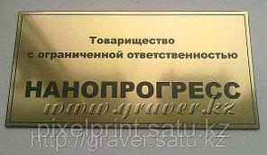 Табличка на дверь из золотистого пластика 30х15 см.