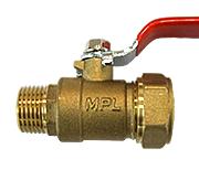 Кран шаровый труба-наружняя резьба C-ML 20-1/2 HYD