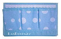 Органайзер для хранения мелочей треугольный голубой