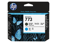 Картридж HP C1Q20A HP 773 Matte Blk and Cyan for Designjet Z6600 1524 mm Production Printer (F2S71A), Designjet Z6800 1524mm Photo Production Printer