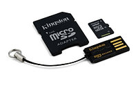 Карта памяти Kingston Micro Secure Digital Card Mobility Kit Gen2 (MBLY4G2) 8GB, в комплекте адаптер на SD, USB-картридер