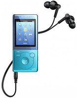 MP3 плеер Sony NWZ-E473 mp3, WMA (не DRM), WMA (DRM), AAC-LC (Не DRM), JPEG, WMV 9, 4GB, Blue