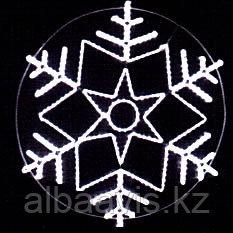 Снежинки из дюралайта на металлическом каркасе