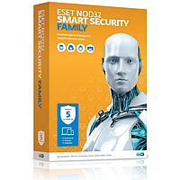 Антивирусы и ПО для компьютера Eset ESET NOD32 Smart Security Family 1 год на 5 устр-в BOXESET NOD32 Smart Security Family 1 год на 5 устр-в BOX