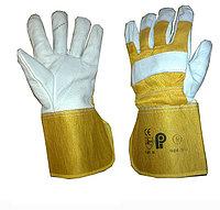 Перчатки кожаные комбинированные,Перчатки рабочие, Большой выбор рабочих перчаток всех видов