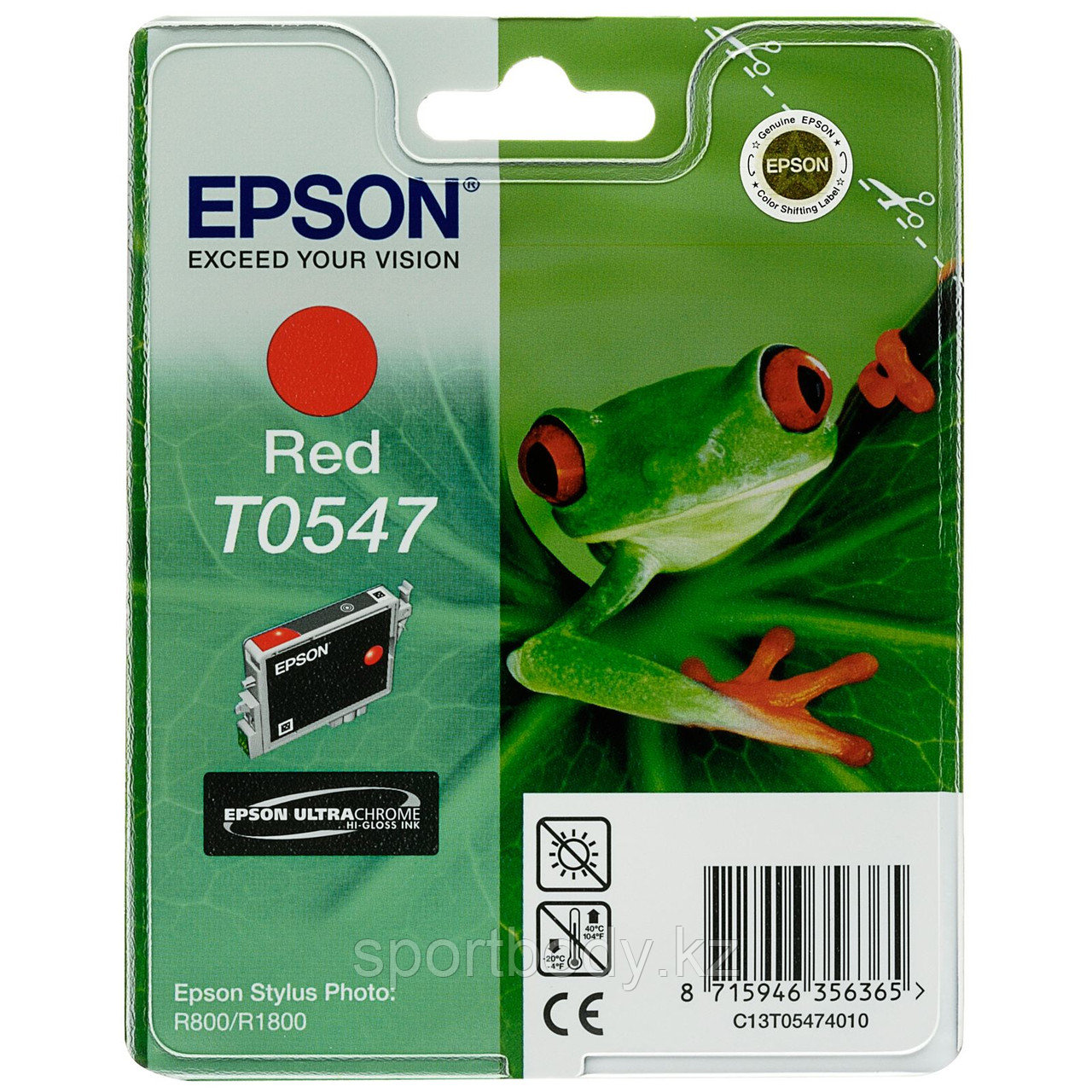 Картридж Epson C13T05474010 for Stylus Photo R800 / R1800 Red Ink Cartridge new для: Epson Stylus Photo R800, Epson Stylus Photo R1800 - Market Place в Алматы